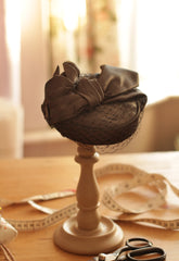 Anna Chocola Royal Wedding Coquette pillbox hat for Eva Birthistle