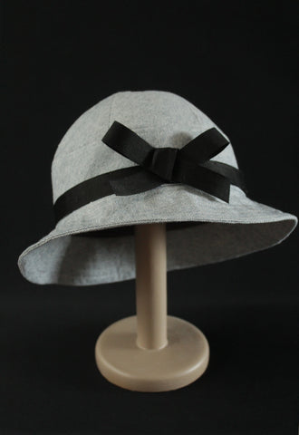 "Light Blue ""Croisette"" Cloche Hat"