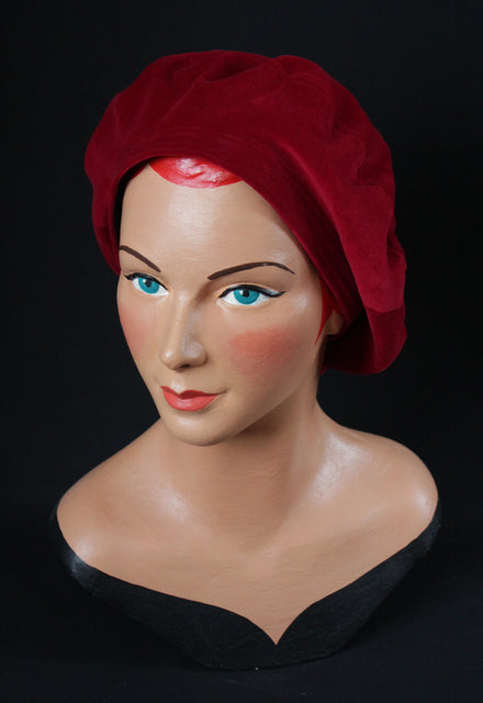 Cherry Red 1930s Beret