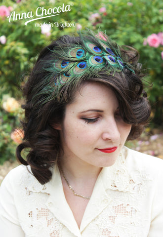 Peacock Feather Headpiece