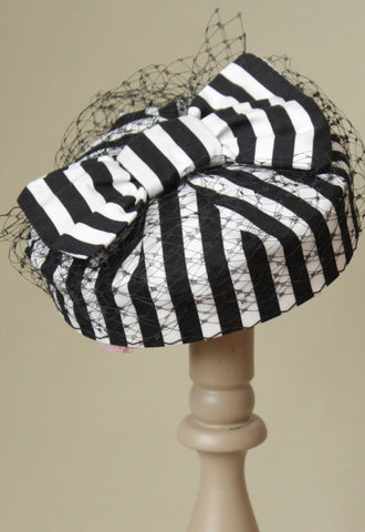 "Monochrome Striped ""Coquette"""