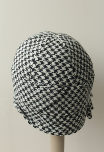Houndstooth Inès Cloche Hat