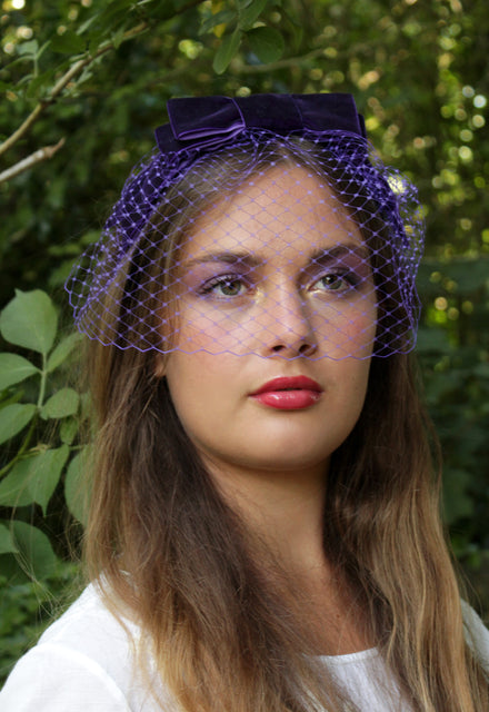 "Purple ""Joli Blush"" Veil Headband"