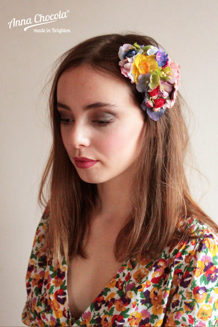 """Petit Jardin"" Flower Headpiece"