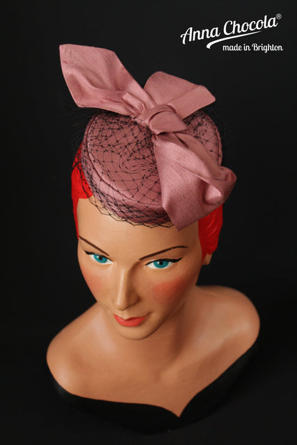 Pink Silk Top Knot Coquette