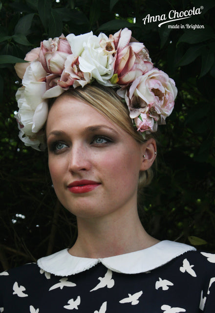 Pastel Bridal Flower Crown