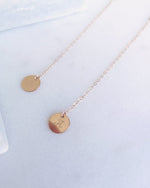 COIN DROP NECKLACE- 14k Rose Gold