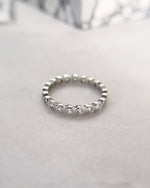 ALL ROUND CZ RING- Sterling Silver