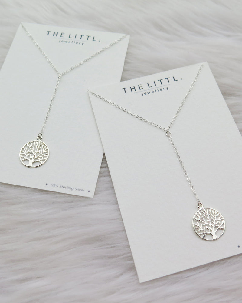 TREE OF LIFE DROP NECKLACE- Sterling Silver