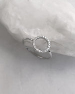 CIRCLE CZ RING- Sterling Silver