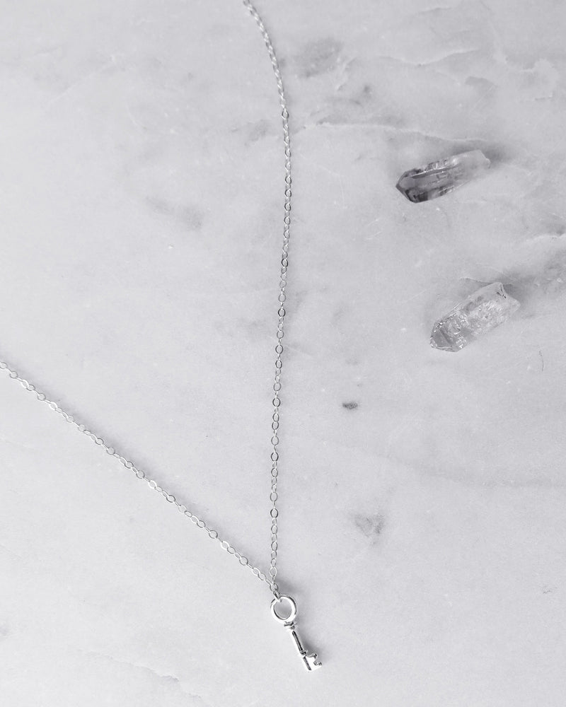 KEY NECKLACE- Sterling Silver