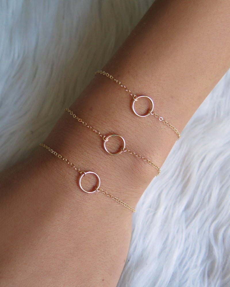 CIRCLE BRACELET- 14k Yellow Gold