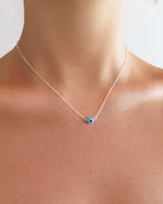 EVIL EYE NECKLACE- Sterling Silver