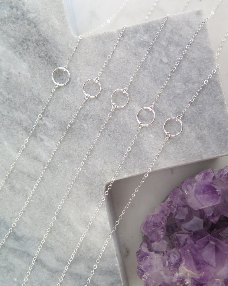 CIRCLE NECKLACE- Sterling Silver