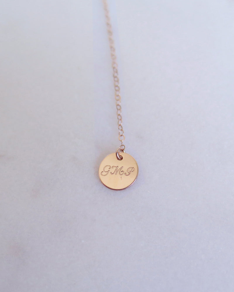 COIN DROP NECKLACE- 14k Yellow Gold