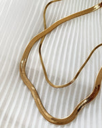 THIN SNAKE NECKLACE- 14k Yellow Gold