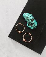 CLASSIC HOOP EARRINGS- 14k Rose Gold
