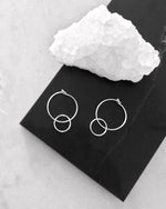 DOUBLE HOOP EARRINGS- Sterling Silver