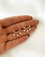 TRIPLE CLEAR CZ HOOP EARRINGS