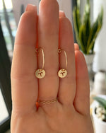 ZODIAC HOOP EARRINGS- 14k Yellow Gold