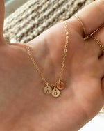 MULTI LETTER COIN NECKLACE- 14k Yellow Gold