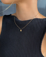 LETTER COIN NECKLACE- 14k Yellow Gold