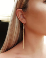 CHAIN DROP EARRINGS- 14k Gold