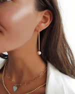 FRESHWATER PEARL BAR EARRINGS