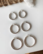 CHICAGO HOOP EARRINGS- Sterling Silver