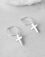 CROSS EARRINGS- Sterling Silver