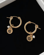 FRESHWATER PEARL ZODIAC EARRINGS- 14k Yellow Gold