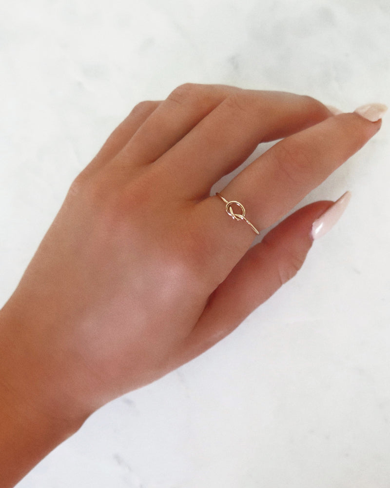 LOVE KNOT RING- 14k Yellow Gold