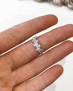 CZ STACK RING- Sterling Silver