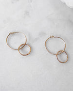 DOUBLE HOOP EARRINGS- 14k Yellow Gold