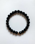 BLACK FACETED AGATE BRACELET