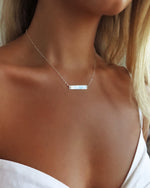 BAR NECKLACE- Sterling Silver