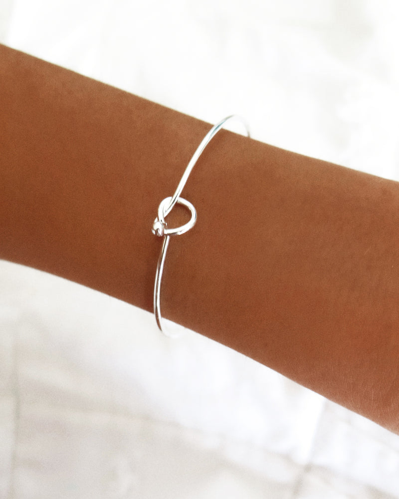 KNOT BANGLE- Sterling Silver