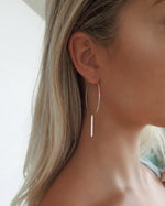 LARGE BAR HOOP EARRINGS