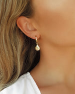 THICK CLAM SHELL HOOP EARRINGS