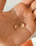 LOVE LOCK HOOP EARRINGS- 14k Yellow Gold