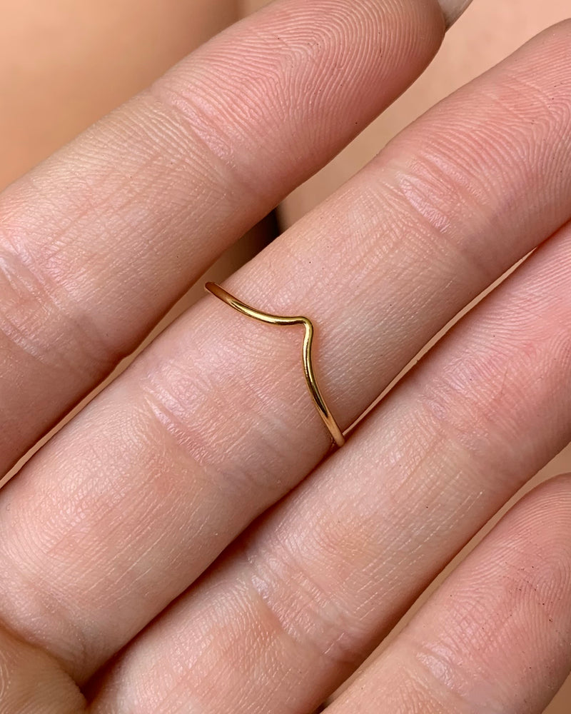 CHEVRON RING- 14k Yellow Gold