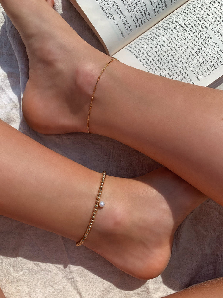 FRESHWATER PEARL BEADED ANKLET