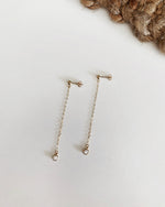 CZ CHAIN DROP EARRINGS