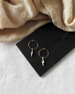 LIGHTNING BOLT EARRINGS- 14k Yellow Gold