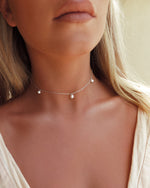 TRIPLE FRESHWATER PEARL NECKLACE- Sterling Silver