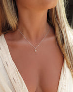 TEARDROP FRESHWATER PEARL NECKLACE- Sterling Silver