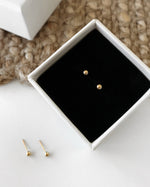 CLASSIC STUD EARRINGS- 14k Yellow Gold
