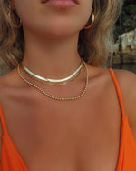 THICK DRAWN CABLE CHAIN NECKLACE- 14k Yellow Gold