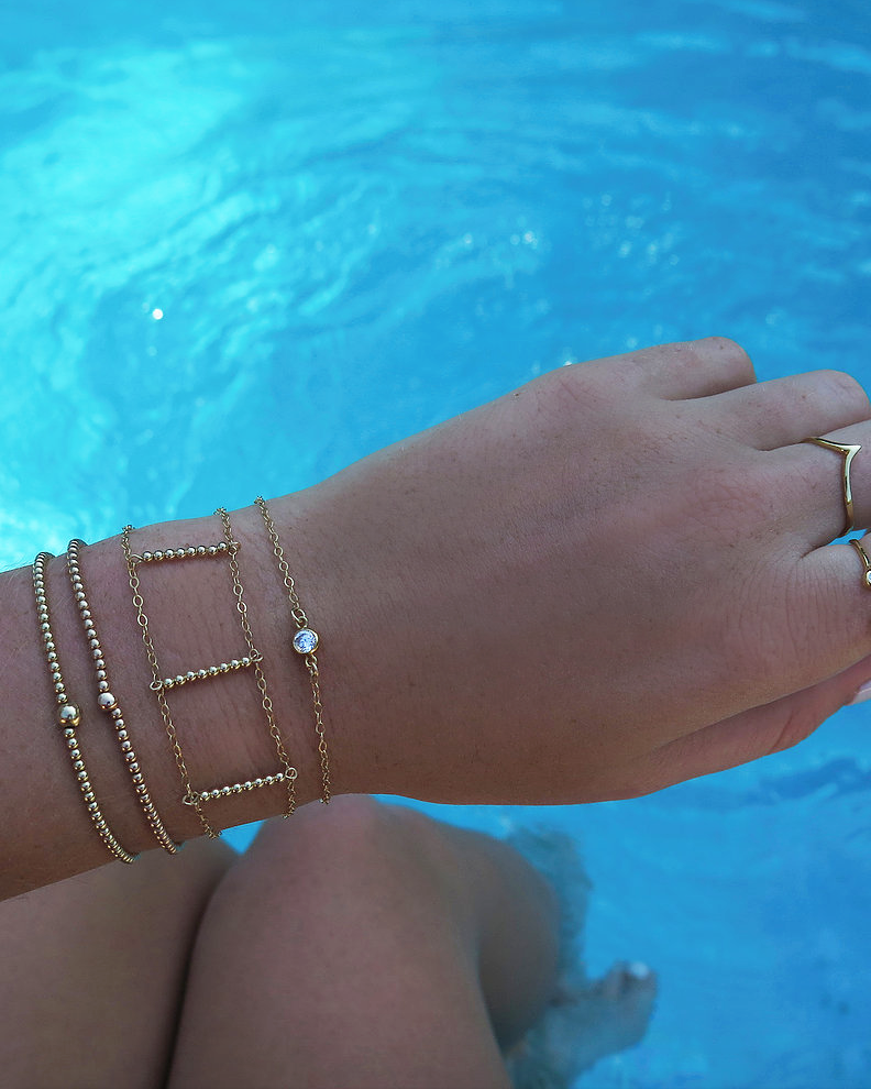 CZ BRACELET- 14k Yellow Gold