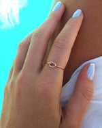 LOVE KNOT RING- 14k Rose Gold